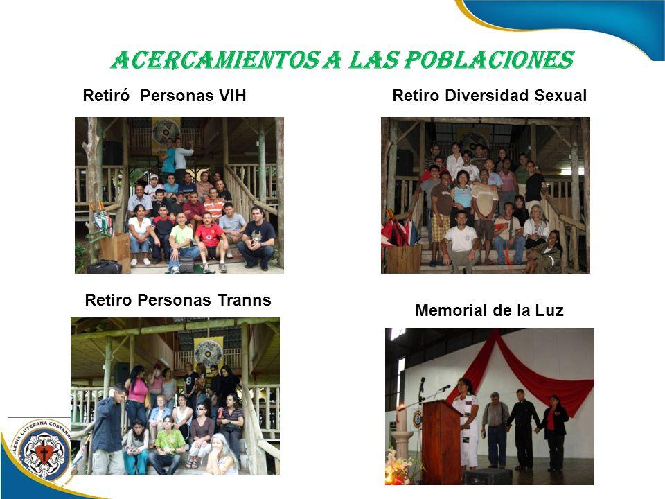 Acercamientos a las Poblaciones Retiró Personas VIHRetiro Diversidad Sexual Retiro Personas Tranns Memorial de la Luz