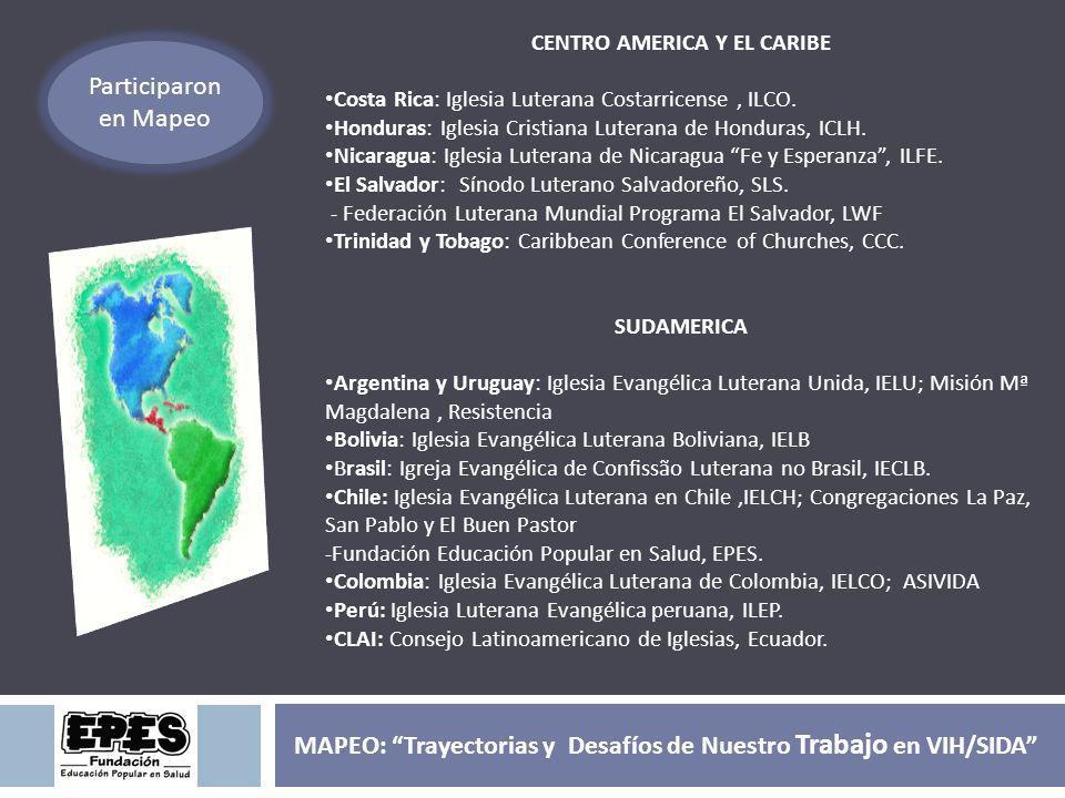 CENTRO AMERICA Y EL CARIBE Costa Rica: Iglesia Luterana Costarricense, ILCO. Honduras: Iglesia Cristiana Luterana de Honduras, ICLH. Nicaragua: Iglesi