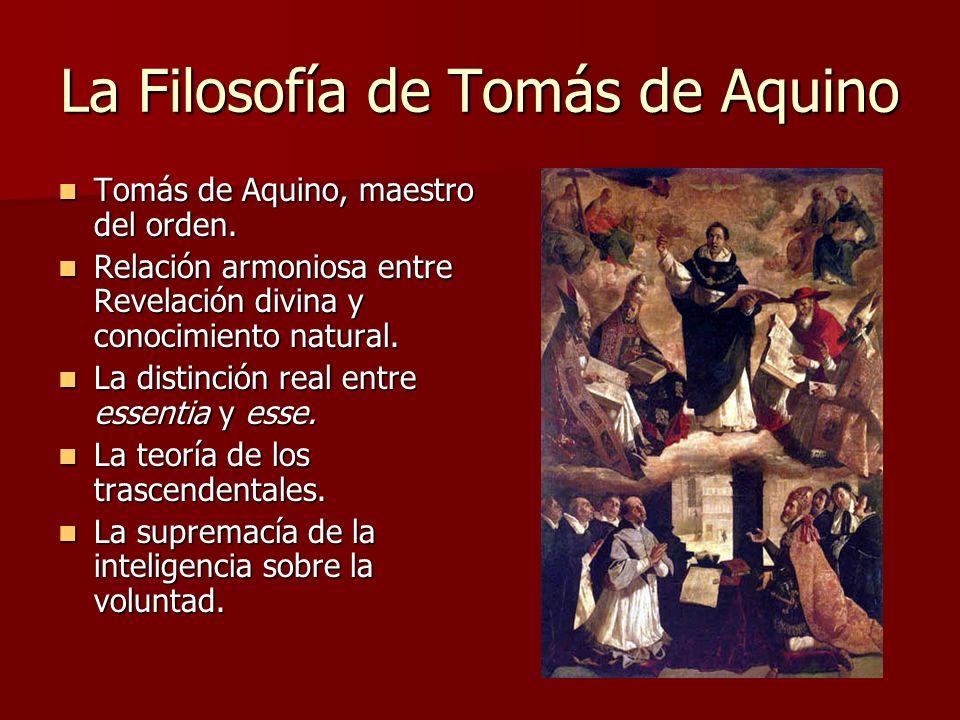 La Filosofía de Tomás de Aquino Tomás de Aquino, maestro del orden. Tomás de Aquino, maestro del orden. Relación armoniosa entre Revelación divina y c