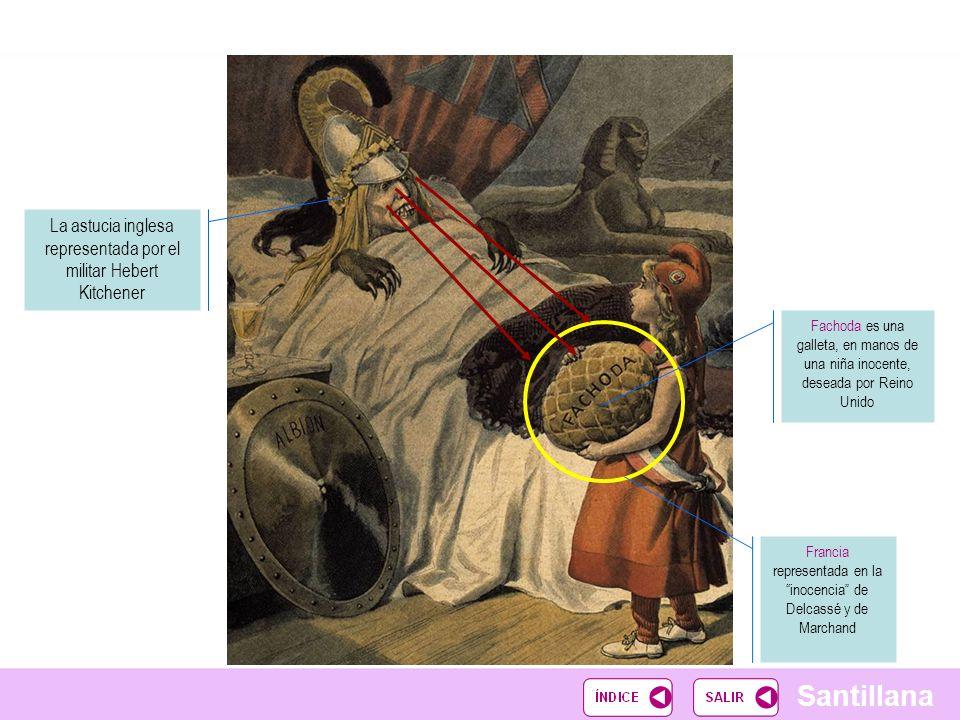 Santillana Espacio elocuente, Reino Unido muestra sus deseos Símbolos de Egipto Tras la retirada francesa de Fachoda, nada impide que los ingleses dominen todo Egipto La Entente Cordiale confirmará el poder británico en la tierra de los faraones