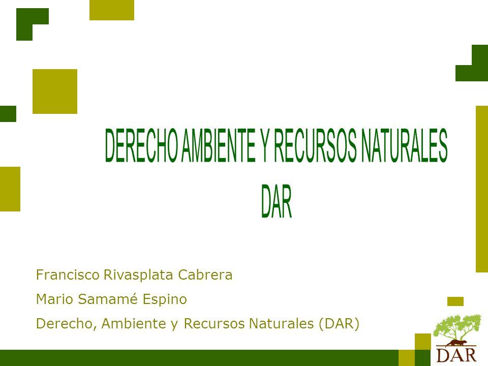 Francisco Rivasplata Cabrera Mario Samamé Espino Derecho, Ambiente y Recursos Naturales (DAR)