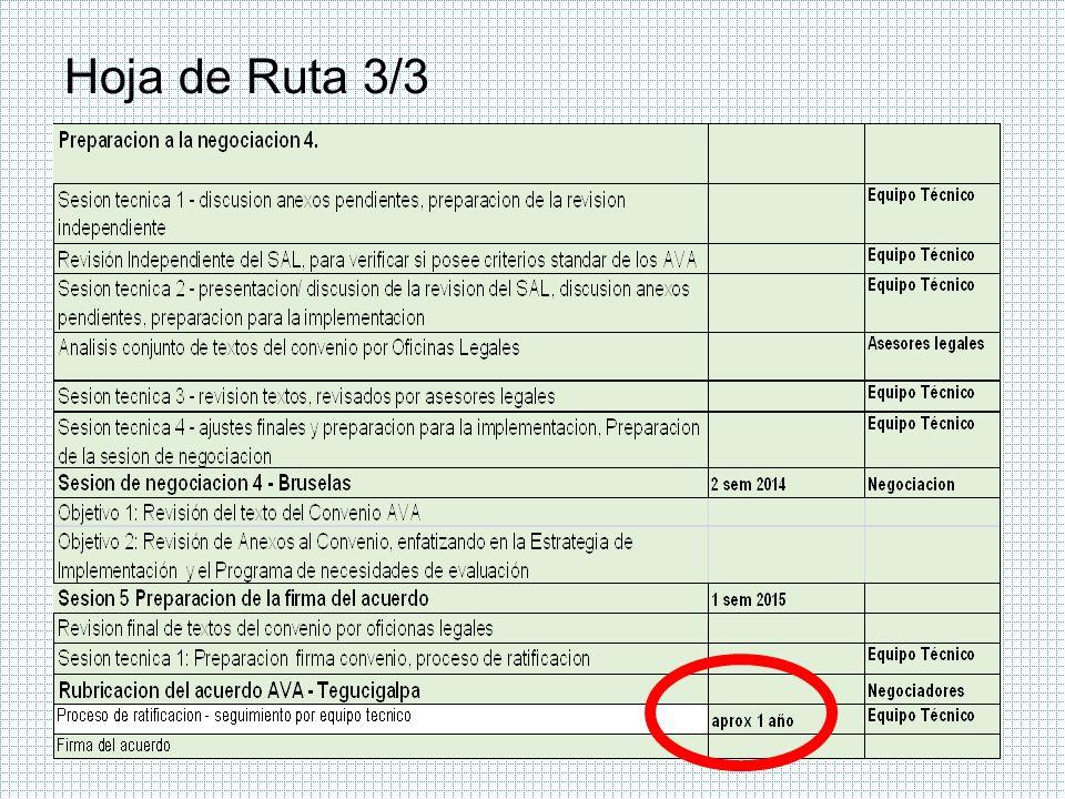 Declaración Conjunta 1/2 La Declaración consta de 10 numerales destinados a destacar: 1.El problema de la tala ilegal y la definición de FLEGT, 2.Las condiciones de los bosques de Honduras, 3.La importancia de los bosques para Honduras en divisas y empleo, 4.Los bosques en la Visión de País e instrumentos de planificación, 5.El interés del Gobierno de Honduras para suscribir un AVA-FLEGT, 6.El tamaño del mercado europeo y el propósito del AVA-FLEGT, 7.Una vez firmado el AVA-FLEGT es vinculantes con la legislación de las partes 8.Reconocimiento de la complejidad de las negociaciones con la UE, 9.Refiere lo pragmático que debe ser su aplicación y verificación, y, 10.Se manifiesta el interés por concluir las negociaciones en 2015.