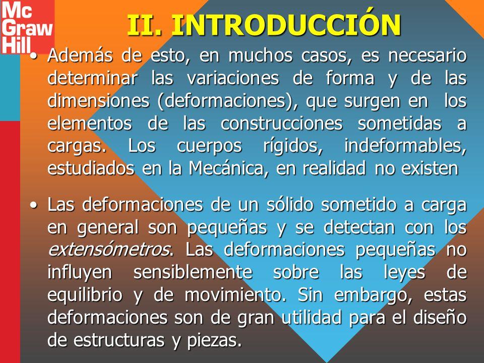 II. INTRODUCCIÓN Además de esto, en muchos casos, es necesario determinar las variaciones de forma y de las dimensiones (deformaciones), que surgen en