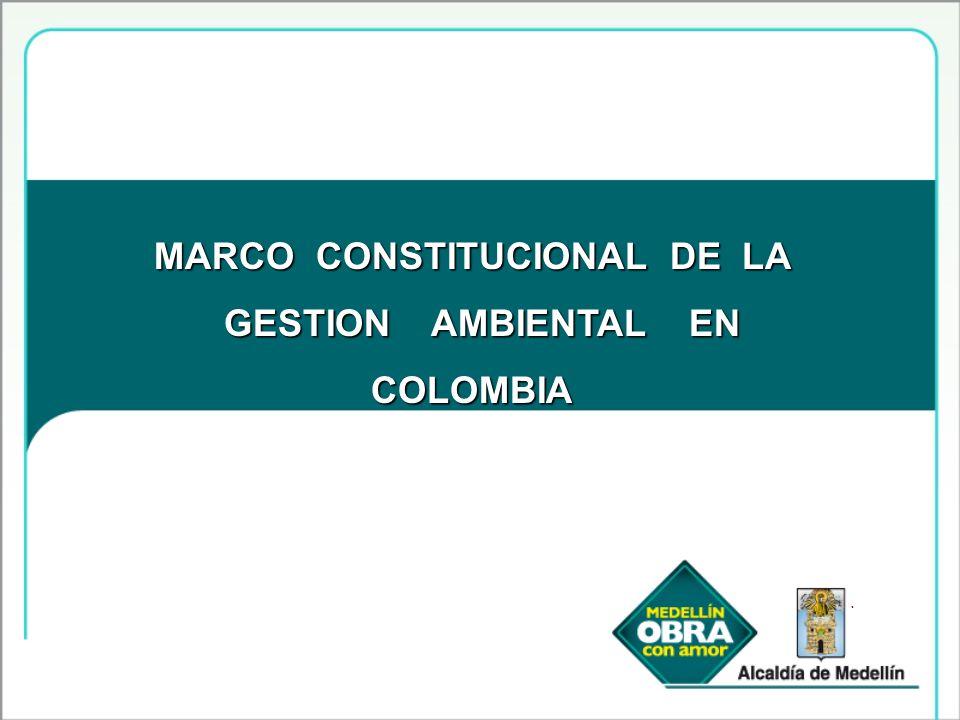 MARCO CONSTITUCIONAL DE LA GESTION AMBIENTAL EN GESTION AMBIENTAL ENCOLOMBIA.