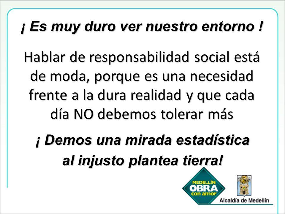 Hablar de responsabilidad social está de moda, porque es una necesidad frente a la dura realidad y que cada día NO debemos tolerar más ¡ Es muy duro v