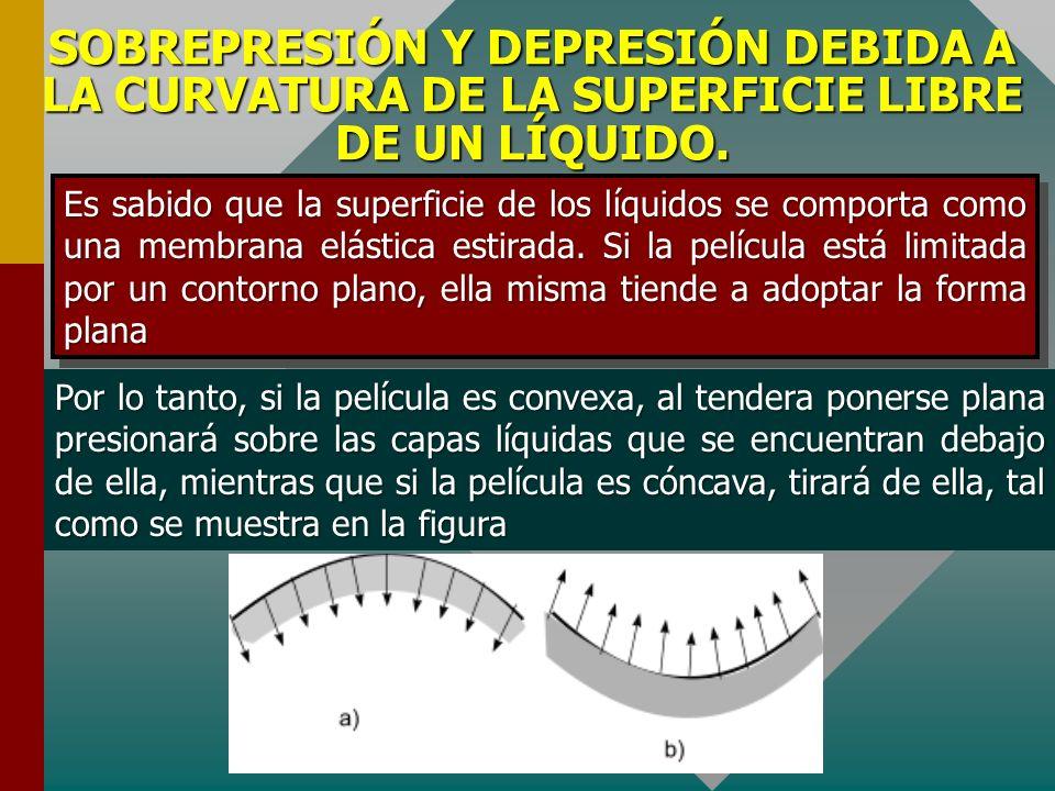 COEFICIENTE DE TENSIÓN SUPERFICIAL. En el sistema internacional el coeficiente de la tensión superficial se expresa en N/m y el sistema CGS absoluto,