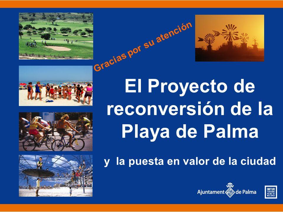 El Proyecto de reconversión de la Playa de Palma y la puesta en valor de la ciudad Gracias por su atención