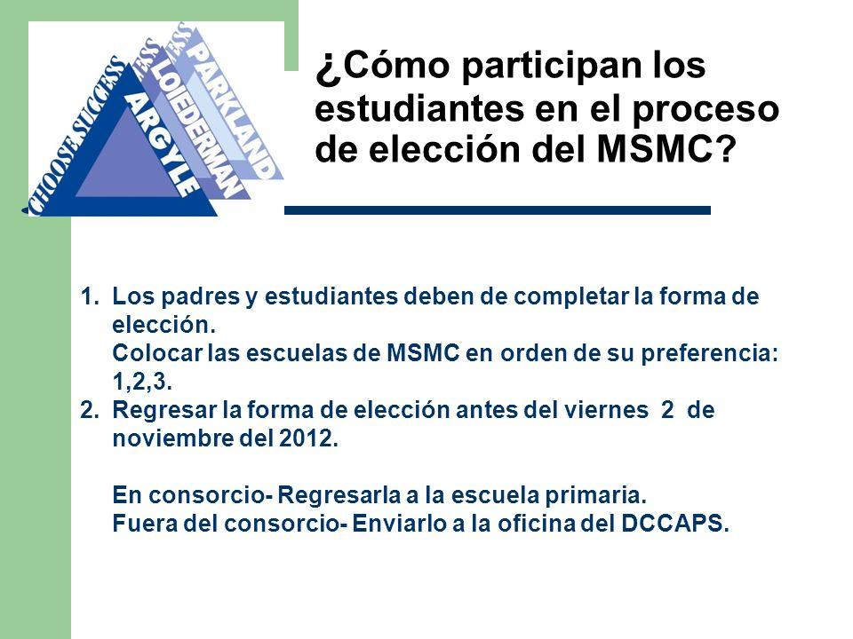 ¿ Cómo participan los estudiantes en el proceso de elección del MSMC.