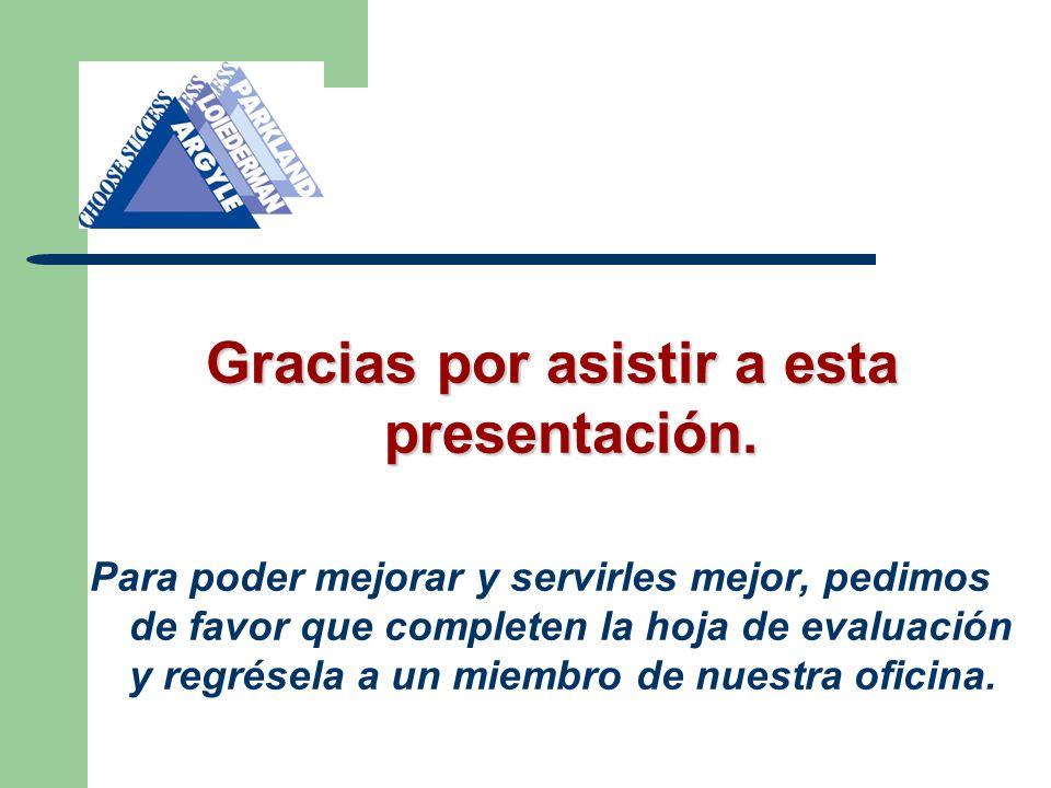 Gracias por asistir a esta presentación.
