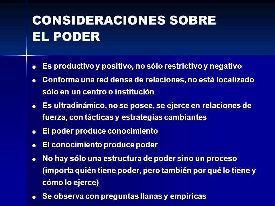 Es productivo y positivo, no sólo restrictivo y negativo Es productivo y positivo, no sólo restrictivo y negativo Conforma una red densa de relaciones
