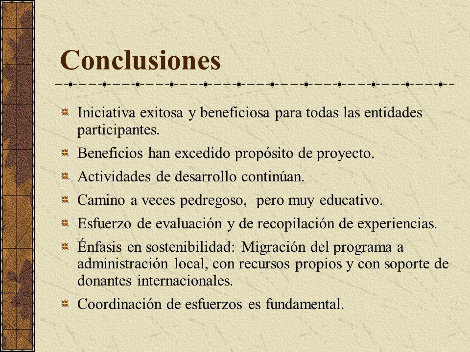 Conclusiones Iniciativa exitosa y beneficiosa para todas las entidades participantes.