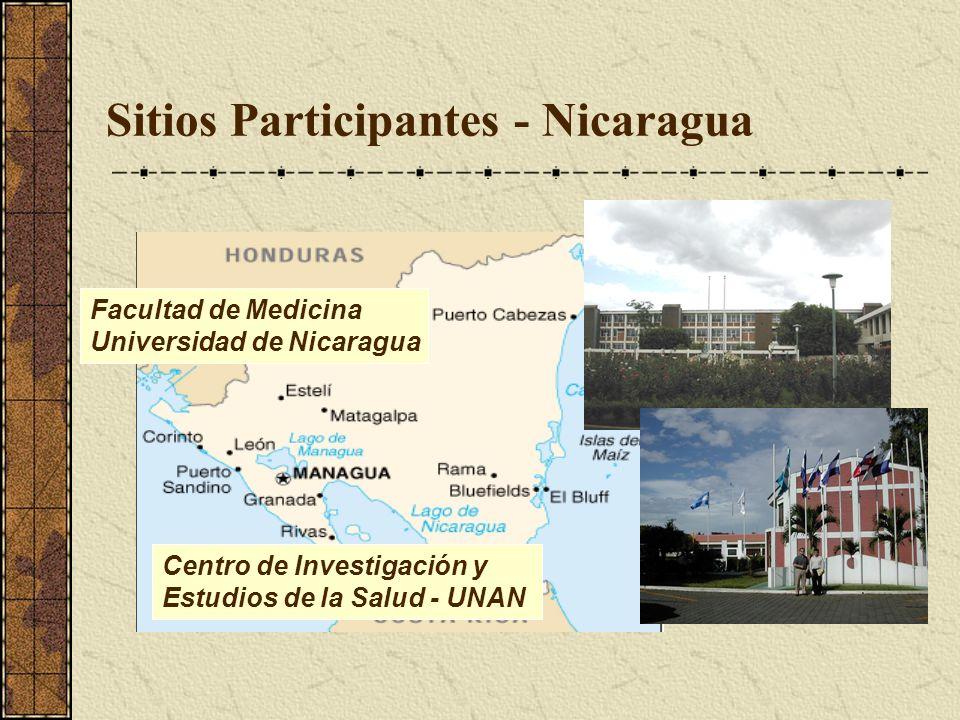 Sitios Participantes - Nicaragua Centro de Investigación y Estudios de la Salud - UNAN Facultad de Medicina Universidad de Nicaragua