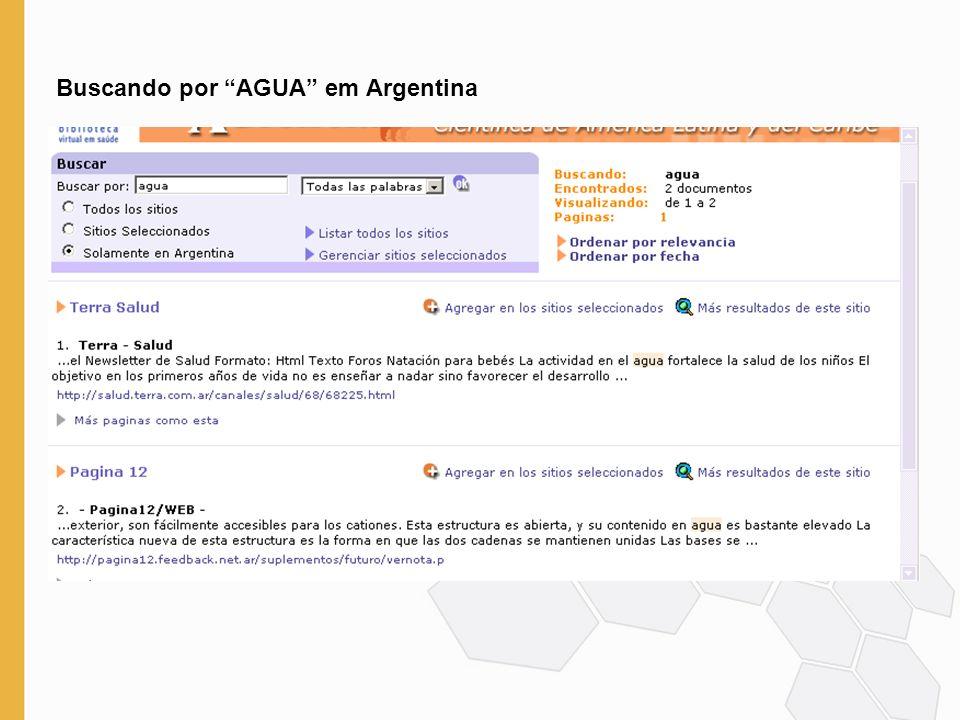 Buscando por AGUA em Argentina