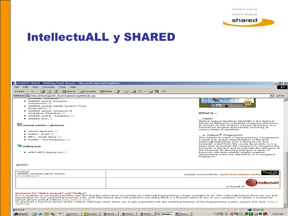 IntellectuALL y SHARED