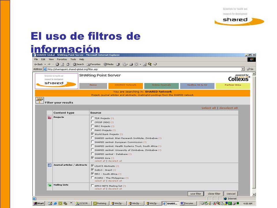 Agnes Soares El uso de filtros de información