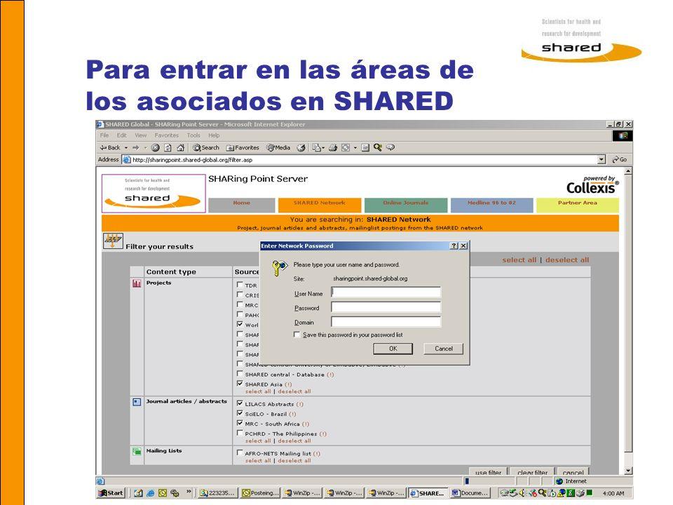 Agnes Soares Para entrar en las áreas de los asociados en SHARED