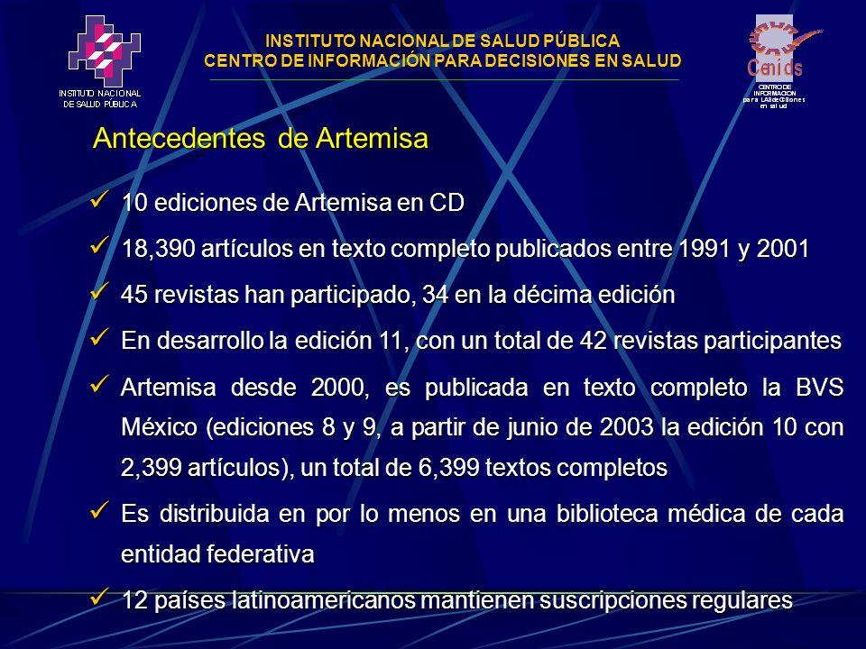 INSTITUTO NACIONAL DE SALUD PÚBLICA CENTRO DE INFORMACIÓN PARA DECISIONES EN SALUD Lineamientos de selección de revistas Criterios de selección de revistas Revistas periódicas de contenido biomédico de literatura científica mexicana.
