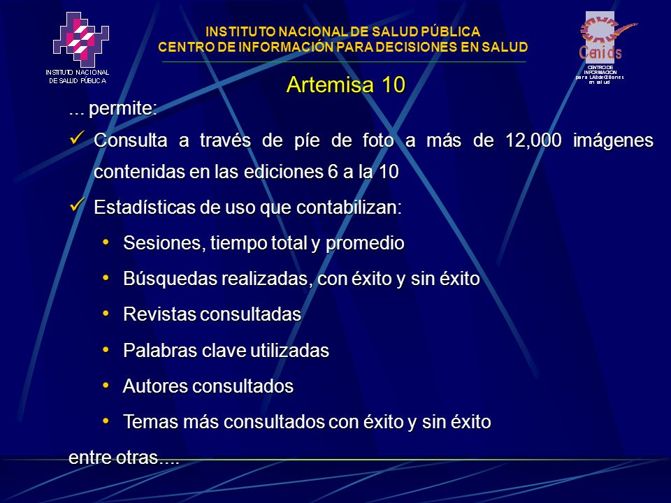 INSTITUTO NACIONAL DE SALUD PÚBLICA CENTRO DE INFORMACIÓN PARA DECISIONES EN SALUD...