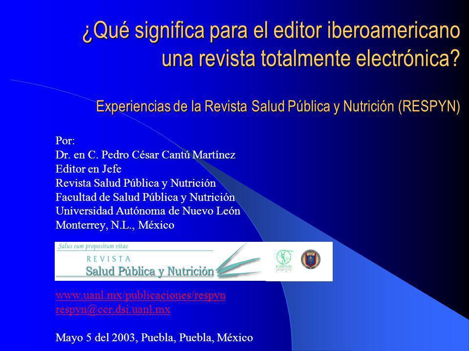 Índice La comunicación científica La comunicación científica vía electrónica Reseña de RESPYN Conclusiones