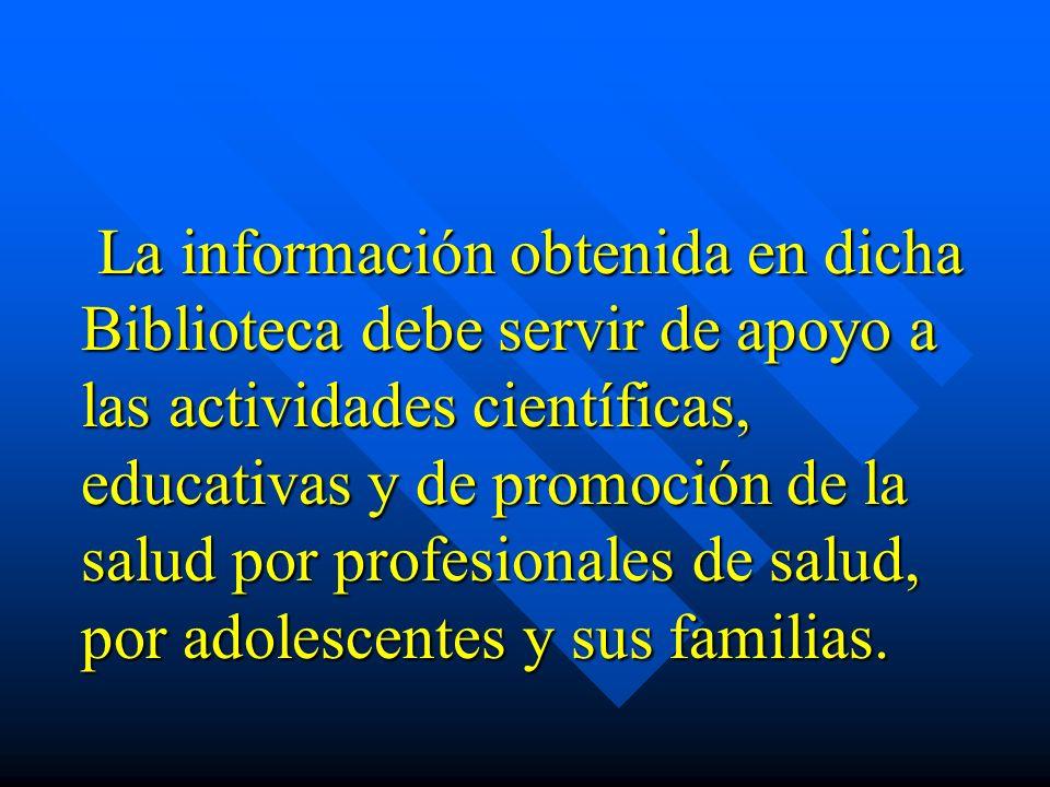 OBJETIVO GENERAL Que se conozca la importancia que tiene el establecimiento de la Biblioteca Virtual en Adolescencia y Salud de Guatemala, para la consulta de información científico-técnica actualizada y especializada en adolescencia.