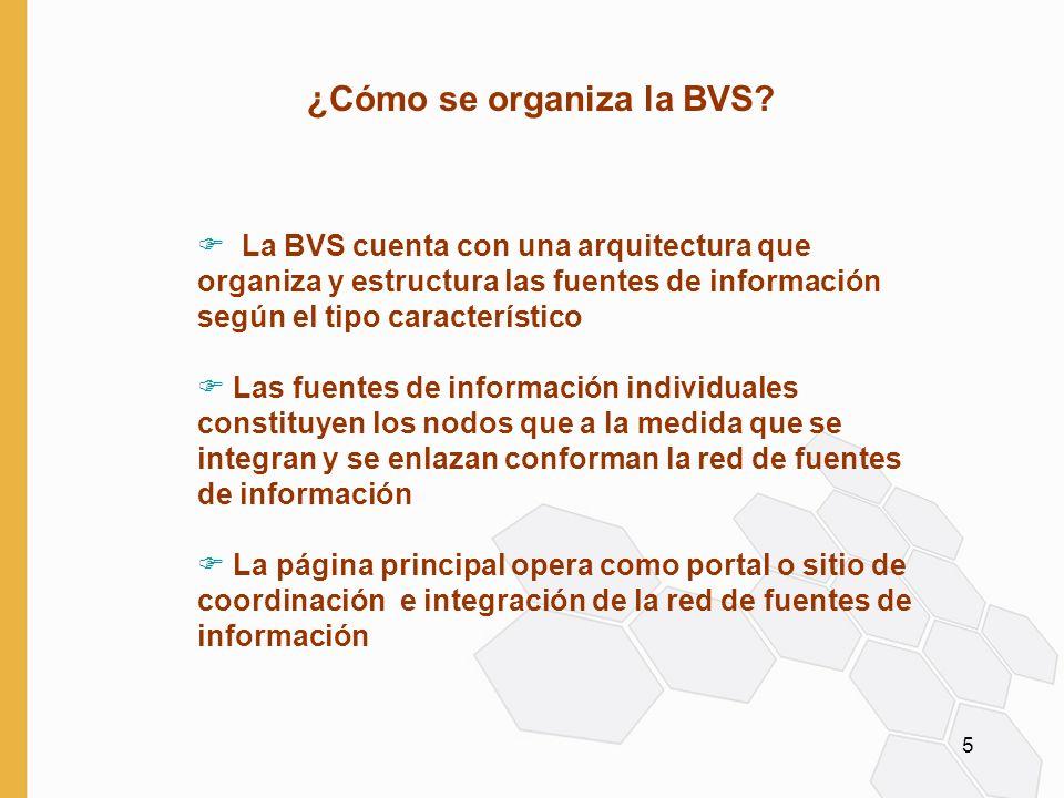5 ¿Cómo se organiza la BVS.