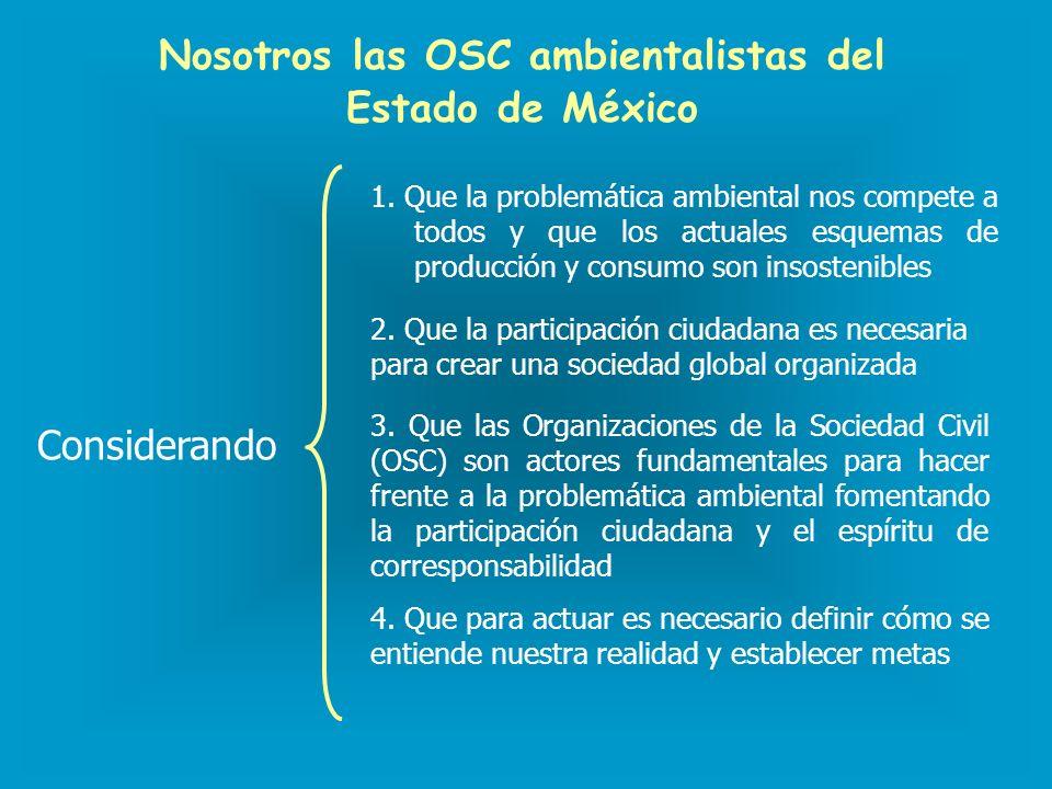 Nosotros las OSC ambientalistas del Estado de México 1.