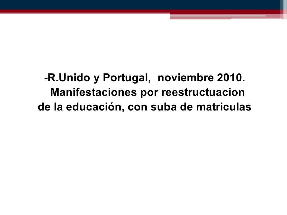 -R.Unido y Portugal, noviembre 2010.