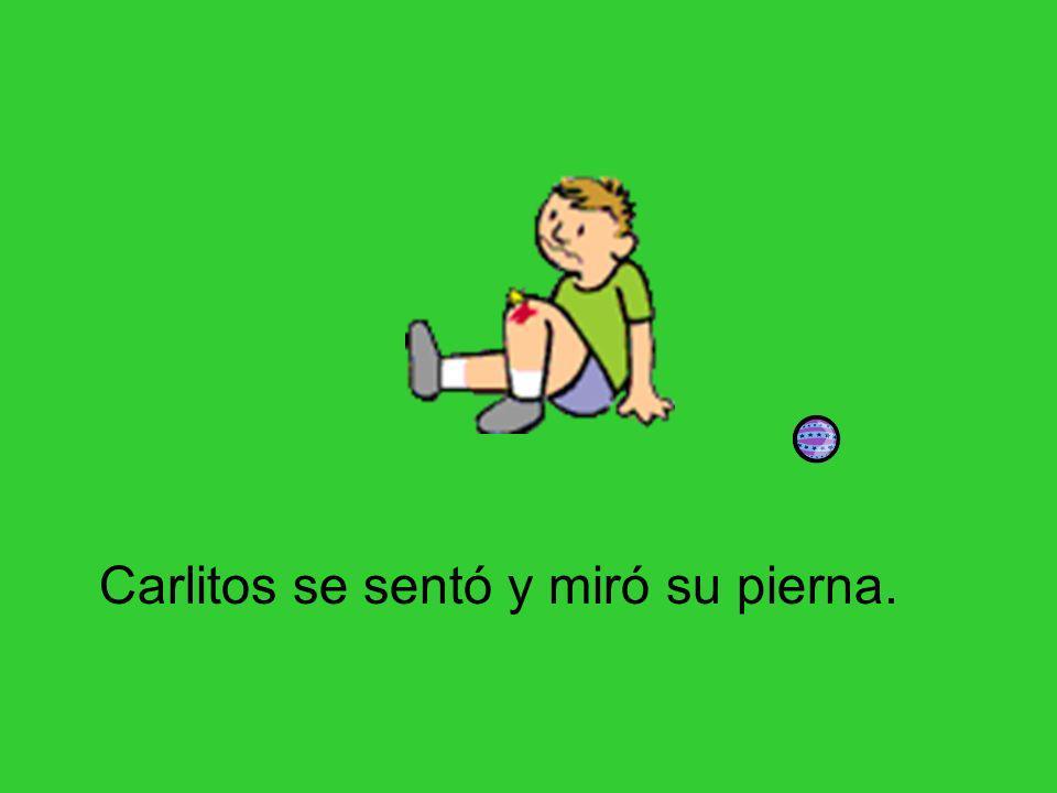 …la pelota de Pepe le pegó la pierna.