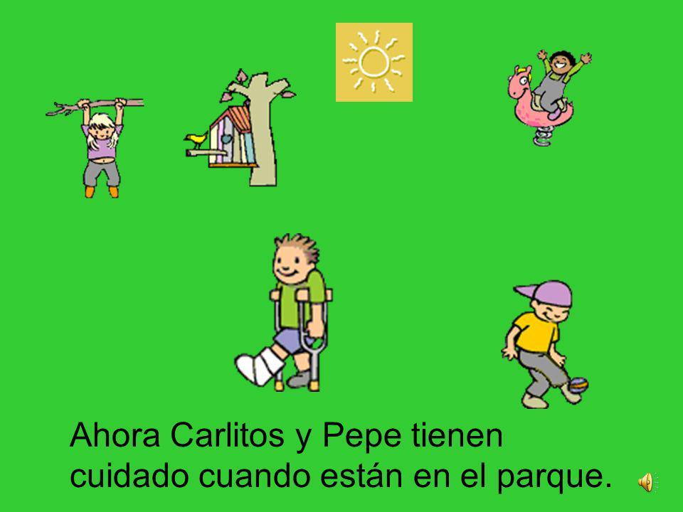 Pepe le compró un regalo a Carlitos y se disculpó.