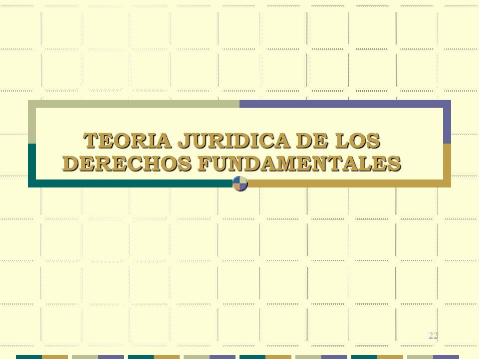 TEORIA JURIDICA DE LOS DERECHOS FUNDAMENTALES 22