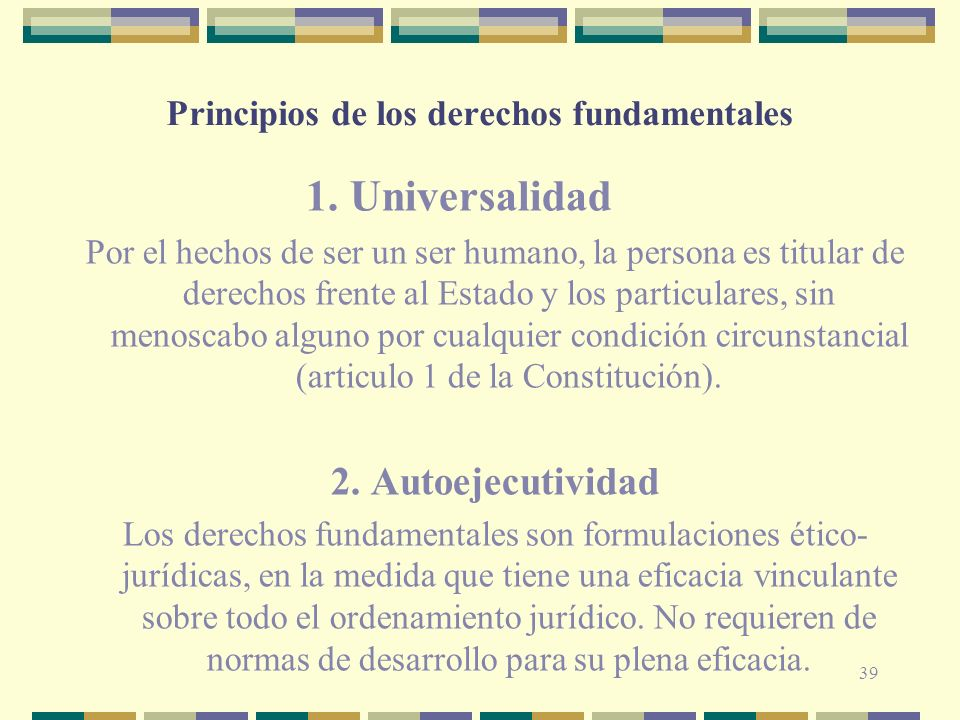 Principios de los derechos fundamentales 1.