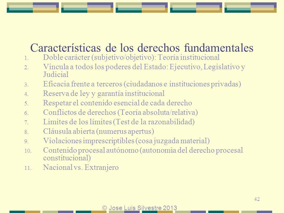 Características de los derechos fundamentales 1.