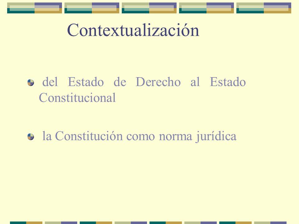Contextualización del Estado de Derecho al Estado Constitucional la Constitución como norma jurídica