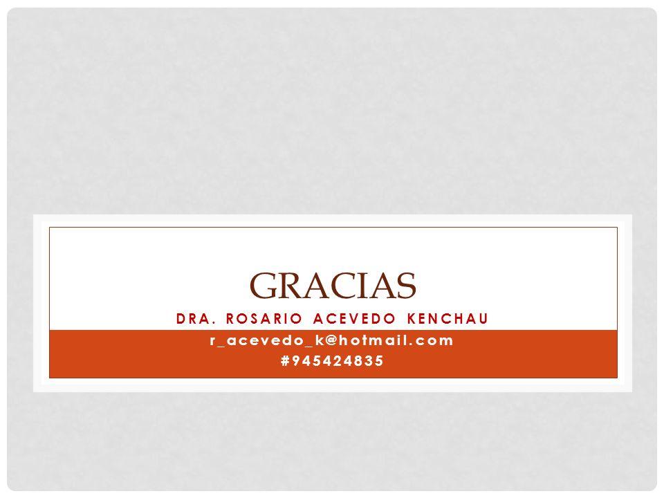 GRACIAS DRA. ROSARIO ACEVEDO KENCHAU r_acevedo_k@hotmail.com #945424835