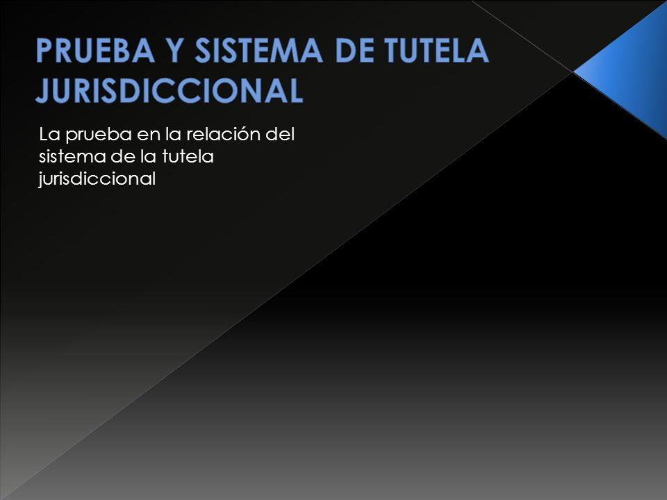 La prueba en la relación del sistema de la tutela jurisdiccional