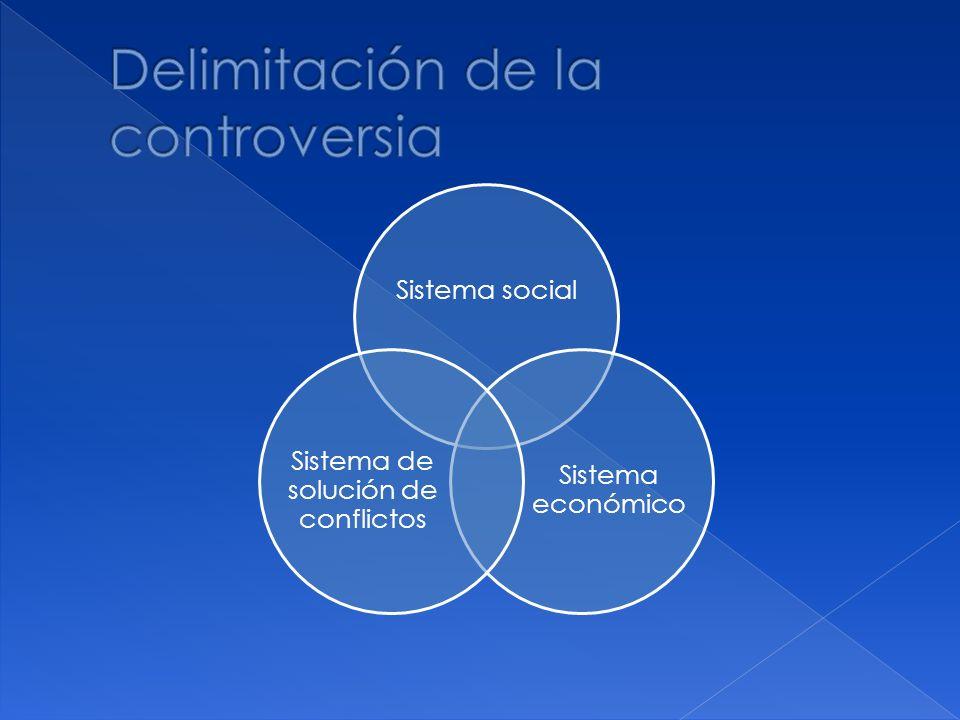 Sistema social Sistema económico Sistema de solución de conflictos