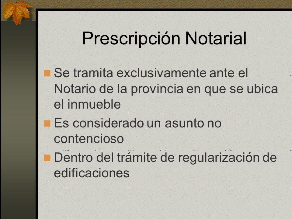 Prescripción Adquisitiva Notarial Ley 27157 D.S 008-2000-MTC Ley 27333