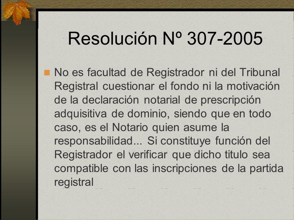 Prescripción Notarial Sobre Terrenos construidos: art. 21 de la Ley 27157 Sobre Terrenos sin construcción: literal k) art. 5. Ley 27333. Amplía el ámb