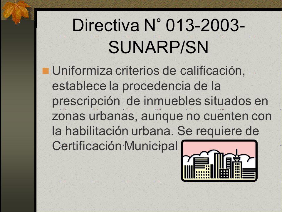Regularización La prescripción adquisitiva notarial está vinculada a una regularización de edificación. Norma de excepción La Ley 27157 es aplicable p
