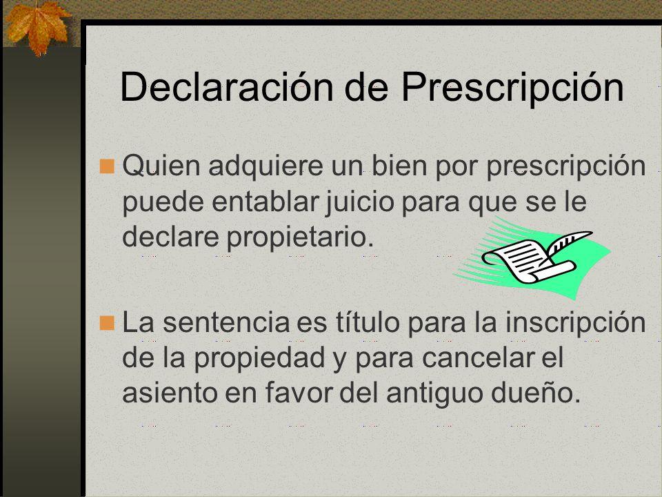 Prescripción Adquisitiva Judicial