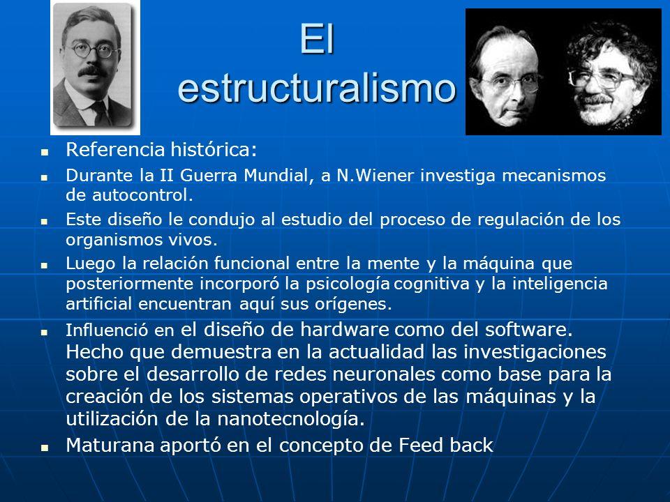 El estructuralismo Referencia histórica: Durante la II Guerra Mundial, a N.Wiener investiga mecanismos de autocontrol. Este diseño le condujo al estud