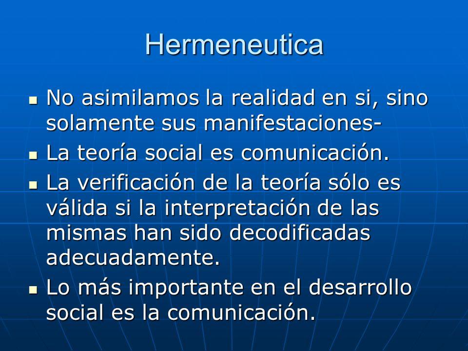 Hermeneutica No asimilamos la realidad en si, sino solamente sus manifestaciones- No asimilamos la realidad en si, sino solamente sus manifestaciones-