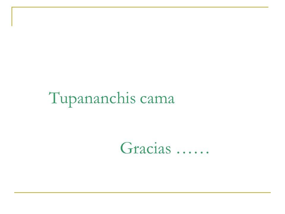 Tupananchis cama Gracias ……