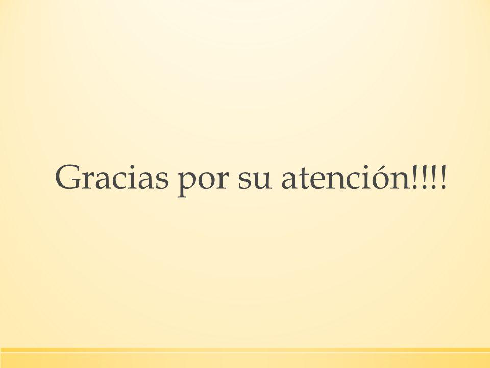 Gracias por su atención!!!!
