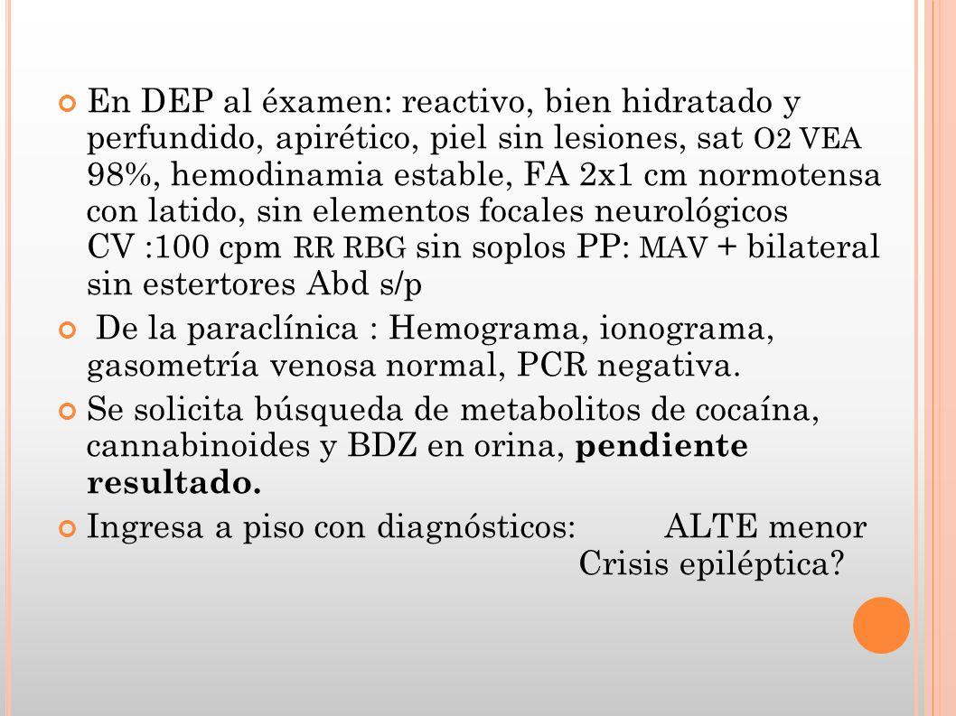 CASOS REPORTADOS Neonato 7 días con irritabilidad, vómitos, diarrea.
