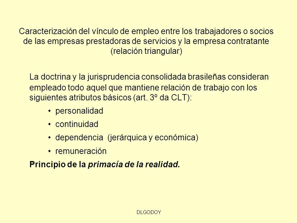 DLGODOY Caracterización del vínculo de empleo entre los trabajadores o socios de las empresas prestadoras de servicios y la empresa contratante (relac