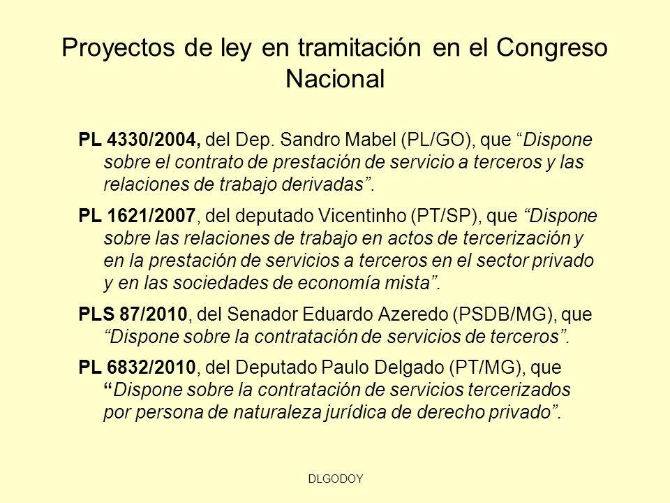 DLGODOY Proyectos de ley en tramitación en el Congreso Nacional PL 4330/2004, del Dep. Sandro Mabel (PL/GO), que Dispone sobre el contrato de prestaci