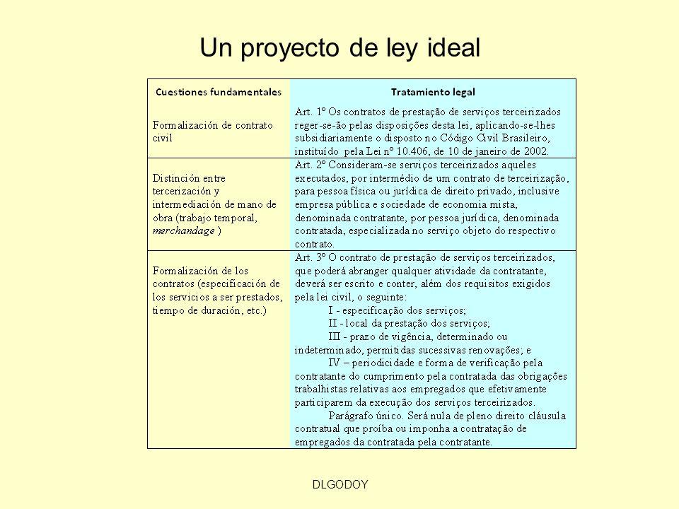 Un proyecto de ley ideal