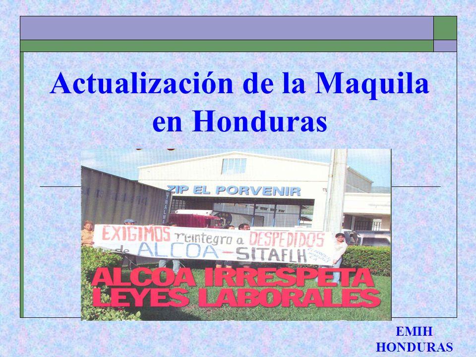 Actualización de la Maquila en Honduras EMIH HONDURAS
