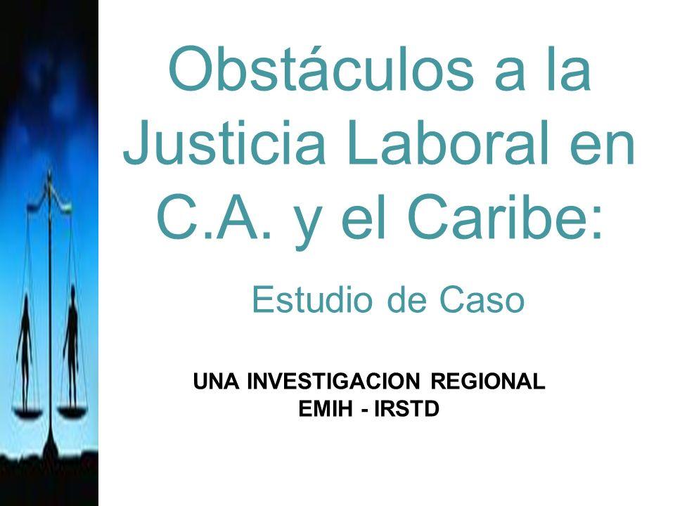 Obstáculos a la Justicia Laboral en C.A.